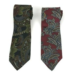 Boston Traders Men's 2 Designer Silk Ties NWOT 495